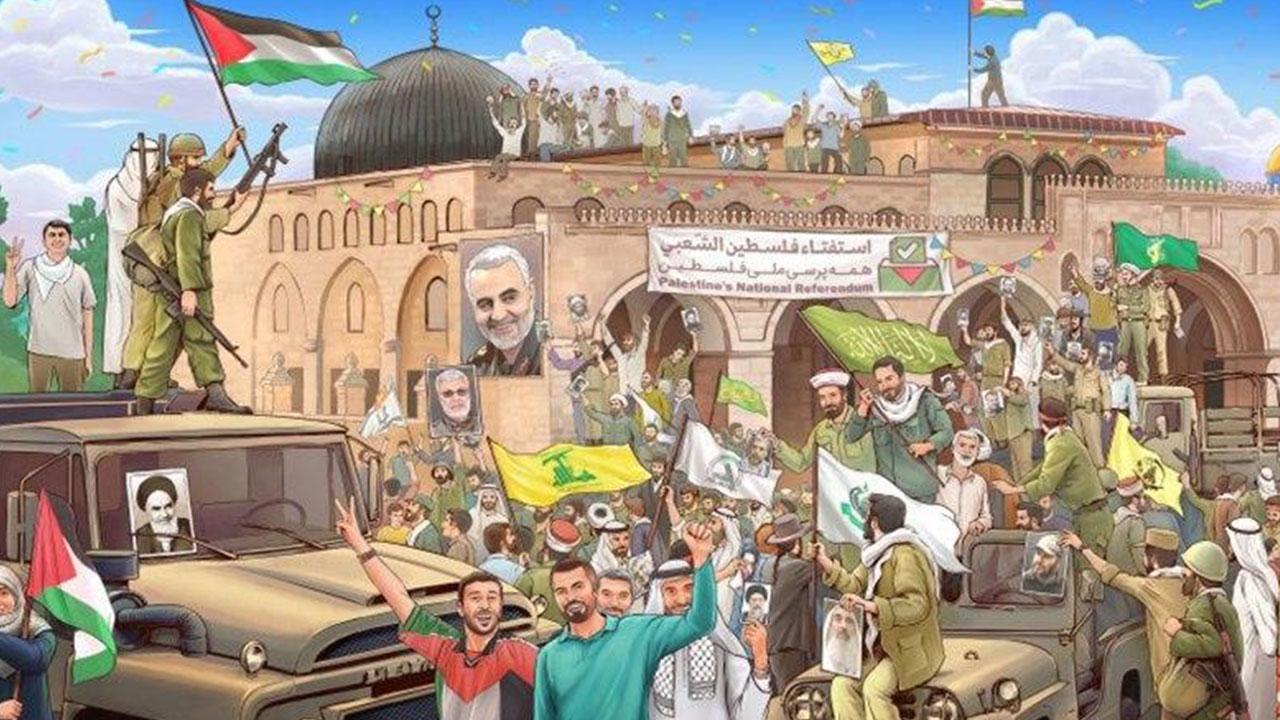 جشن آزادی قدس، بر روی دیوارنگاره میدان ولیعصر(عج)